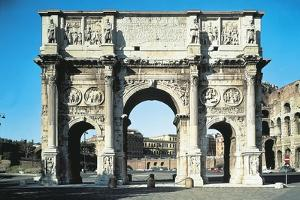 Italy, Lazio Region, Rome, Roman Forum, Arch of Constantine