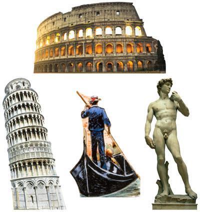 Italy Party Theme Set Lifesize Standups