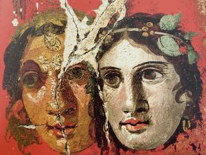 Italy, Pompeii, House of the Golden Bracelet, Wal