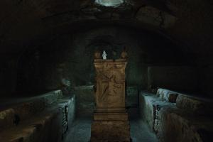 Italy. Rome. the Basilica of Saint Clement. Mithraeum in the Basement, 2nd Century