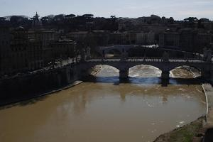 Italy. Rome. Tiber River from Castel Sant'Angelo