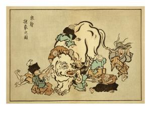 Blind Monks Examining an Elephant by Itcho Hanabusa