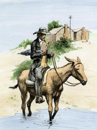 Itinerant Preacher Riding a Mule from Settlement to Settlement