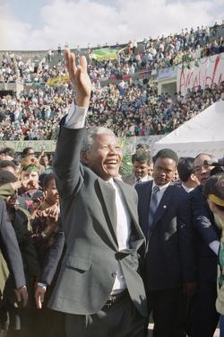 Nelson Mandela in Japan by Itsuo Inouye