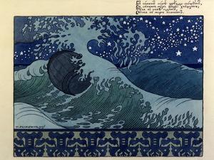 Illustration for the Poem the Tale of Tsar Saltan by Aleksandr Pushkin, 1905 by Ivan Bilibin