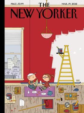 The New Yorker Cover - March 19, 2012 by Ivan Brunetti
