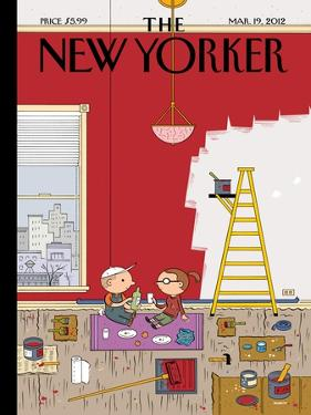 Warmth - The New Yorker Cover, March 19, 2012 by Ivan Brunetti