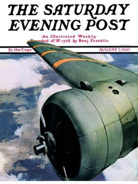 """Propeller,"" Saturday Evening Post Cover, August 7, 1937 by Ivan Dmitri"