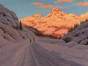 Cross-Country Ski-Ing, Haute Savoie by Ivan Fedorovich Choultse