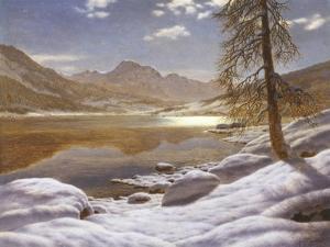 Moonlit Lake by Ivan Fedorovich Choultse