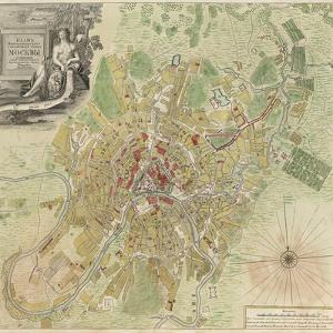 Map of Moscow, 1739 by Ivan Fyodorovich Michurin