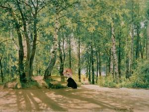 At the Summer Cottage, 1894 by Ivan Ivanovitch Shishkin