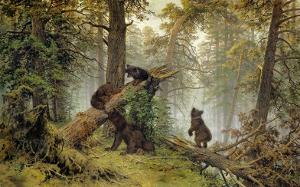 Moring In A Pine Wood by Ivan Ivanovitch Shishkin