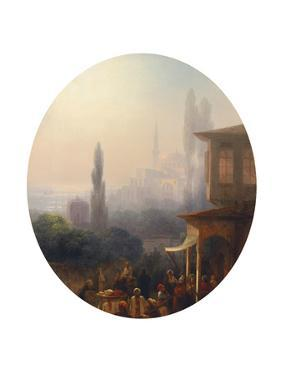 A Market Scene in Constantinople, with the Hagia Sophia Beyond, 1860 by Ivan Konstantinovich Aivazovsky