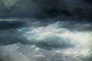 Between The Waves by Ivan Konstantinovich Aivazovsky