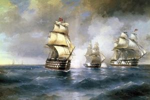 Brig Mercury Attacked by Two Turkish Ships on May 14th, 1829, 1892 by Ivan Konstantinovich Aivazovsky