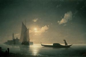 Gondolier at Sea by Night, 1843 by Ivan Konstantinovich Aivazovsky