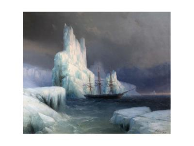 Icebergs in Antarctica by Ivan Konstantinovich Aivazovsky