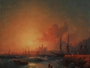 Malaga, 1854 by Ivan Konstantinovich Aivazovsky