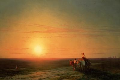 Peasants Returning from the Fields at Sunset, 19th Century by Ivan Konstantinovich Aivazovsky