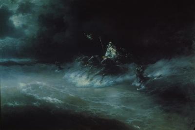 Poseidon S Travel Over The Sea Ivan Aivazovsky