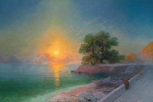 Promenade at Sunset, 1869 by Ivan Konstantinovich Aivazovsky