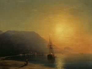 Sunset off Ayu Dag in the Crimea, 1861 by Ivan Konstantinovich Aivazovsky
