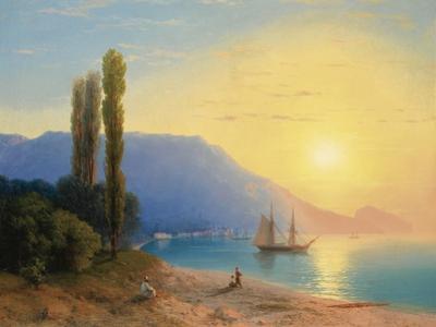 Sunset over Yalta by Ivan Konstantinovich Aivazovsky