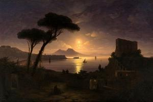 The Bay of Naples at Moonlit Night, 1842 by Ivan Konstantinovich Aivazovsky