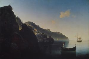 The Coast Near Amalfi, 1841 by Ivan Konstantinovich Aivazovsky