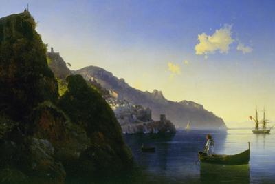 The Coast of Amalfi, 1841 by Ivan Konstantinovich Aivazovsky