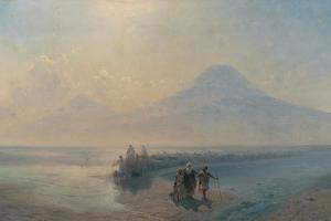 The Descent of Noah from Mount Ararat by Ivan Konstantinovich Aivazovsky