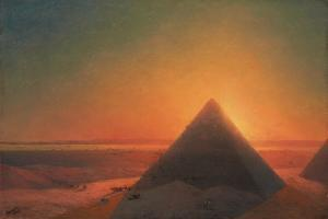 The Great Pyramid at Giza, 1878 by Ivan Konstantinovich Aivazovsky