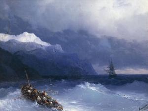 The Rescue by Ivan Konstantinovich Aivazovsky