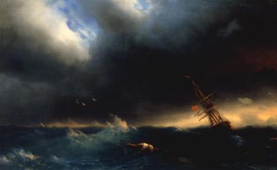 The Survivor, 1853 by Ivan Konstantinovich Aivazovsky