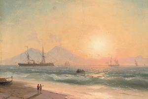 Watching Ships at Sunset by Ivan Konstantinovich Aivazovsky