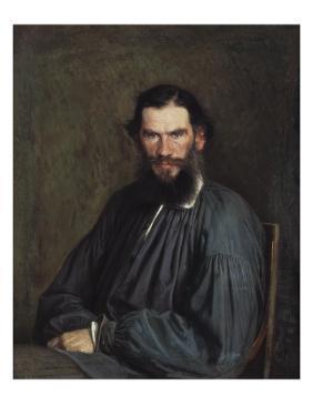 Portrait of Leon Tolstoy by Ivan Nikolaevich Kramskoi