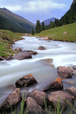 Altyn Arashan River and Valley, Issyk Kul Oblast, Kyrgyzstan by Ivan Vdovin