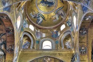 Byzantine Mosaic of Church Santa Maria Dell Ammiraglio (Martorana), Palermo, Sicily, Italy by Ivan Vdovin