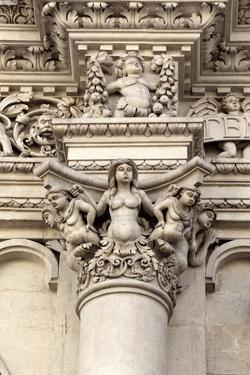 Facade Sculpture of Church of the Holy Cross (Chiesa Di Santa Croce), Lecce, Apulia, Italy by Ivan Vdovin