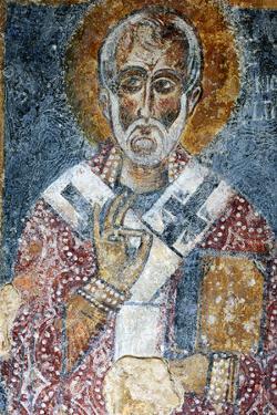 Fresco of the Cave Church San Nicola Dei Greci, Sassi Di Matera, Basilicata, Italy by Ivan Vdovin