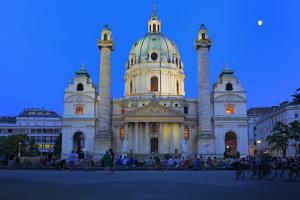 Karlskirche (St. Charles's Church), Vienna, Austria by Ivan Vdovin