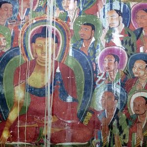 Mural Painting (11th Century), Dratang Monastery, Lhoka (Shannan) Prefecture, Tibet, China by Ivan Vdovin