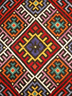 Traditional embroidery, Zakarpattia Oblast, Transcarpathia, Ukraine by Ivan Vdovin