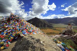 Yumbu Lakhang (Yungbulakang Palace), Lhoka (Shannan) Prefecture, Tibet, China by Ivan Vdovin