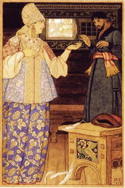 Archer's Wife and Andrey the Archer, 1919 by Ivan Yakovlevich Bilibin