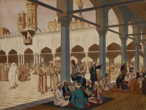 Courtyard of the Al-Azhar Mosque and University, Cairo, 1928 by Ivan Yakovlevich Bilibin