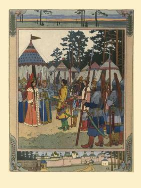 Illustration for the Fairy Tale Marya Morevna, 1901 by Ivan Yakovlevich Bilibin