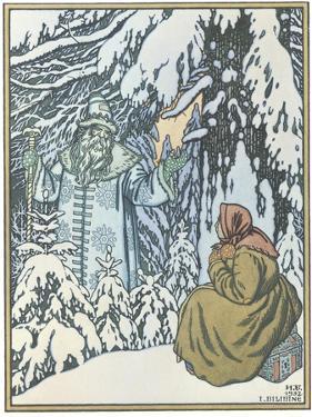 Illustration for the Fairy Tale Morozko, 1932 by Ivan Yakovlevich Bilibin