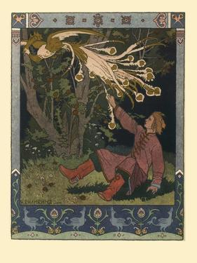Illustration for the Fairy Tale of Ivan Tsarevich, the Firebird, and the Gray Wolf, 1902 by Ivan Yakovlevich Bilibin